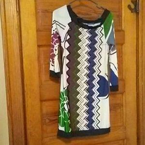 Long sleeved patterned dress